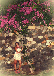 Magdalena Z - Bershka Dress - I really love flowers ;) Island Kos - Greece