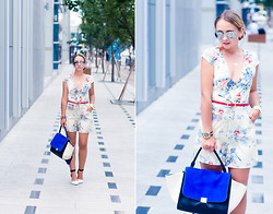 Olga Choi - Sheinside Jumpsuit, Woakao Bag, Zerouv Glasses - Why so blue?