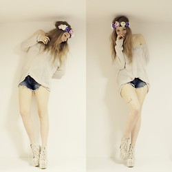 Joana-Kristin Soost - H&M Hairband, Zara Sweater, Zara Shorts, Jeffrey Campbell Heels - WHEN YOU GROW UP, YOUR HEART DIES.