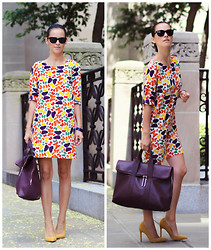 Veronica P - Nieves Lavi New York Dress, 3.1 Phillip Lim Bag - Butterfly Effect