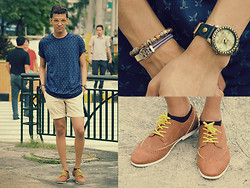 Nino Calimag - Portside Shirt, American Eagle Short, Wade Shoes, Bazaar Watch, Sm Accesories Eye Wear - ON THE GO