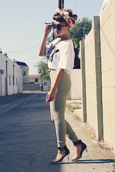 CuriouserLia . - Boy London Crop Tee, American Apparel Riding Pants, Jeffrey Campbell Soiree - Oh Boy!