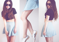 Ally Buu - American Apparel Top, Zara Flats, American Apparel Skirt - 34 degrees