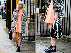 Olivia Taylor - Asos Coat, The Editors Market Dress, Asos Backpack, Asos Boots - Bold (Giveaway on my blog!!)