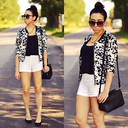 Pam S - Sheinside Jacket, Shoes - Black&white jacket