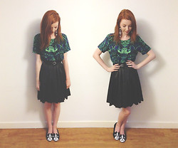 Hannah Louise - Printed T Shirt, Asos Midi Skirt, Dog Flats - Jungle