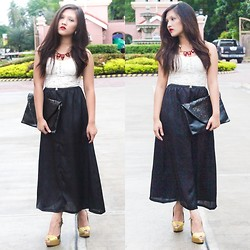Glaiza Homez - Forever 21 Corset, Wagw Maxi Skirt, Nine West Heels, Wagw Necklace - STAY CLASSY