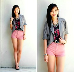Jeanne Khe - Amour Manila Gray Cropped Blazer - Just Like College