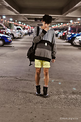 Adrian Leander - Dr. Martens 1460 Dr.Martens Black Classic, H&M Summer Shorts, Oxygen Sweaters - Wrong Way