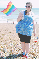 Becky Bedbug - Primark Sunglasses, New Look Pinafore, H&M Top, Topshop Socks, Dorothy Perkins Shoes - Brighton Pride