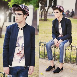 Ayoub Mani - H&M Cap, Eyewear Glassesshop, Zara Jacket, Choies Sweater, Sammydresse Jeans, Paul Smith Shoes - LIVE EVERYDAY LIKE IT'S SATURDAY