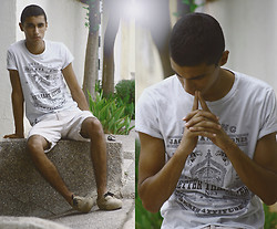 MOHCINE ADEL - Jack & Jones T Shirt, Celio* Pants - Break in the narrow time