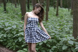 Tatyana Ivona - Gilly Hicks Plaid Dress - A stranger is just someone you have forgotten.