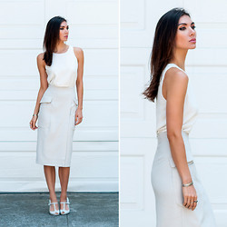 Tienlyn . - Vamastyle Light Of Day Cami, Asos Wrap Skirt, Melissa T Strap Wedges - Bionic Librarian