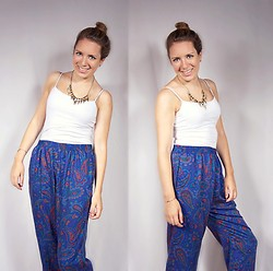 Meg Davis - Thrifted Pants, Charlotte Necklace - Nobody told us to quit