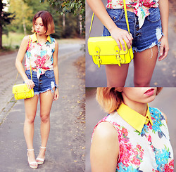 Wioletta Mary Kate - Sheinside Shorts, Awwdore Top, Steve Madden Bag, Chicnova Shoes - Hello August