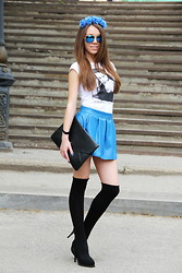 Nastia Nastia - Hand Made Skirt - Blue mood