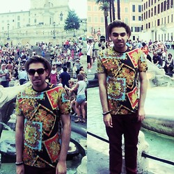 Umar Iqbal - Topman Patterned Tee - CULTURE CLASH!