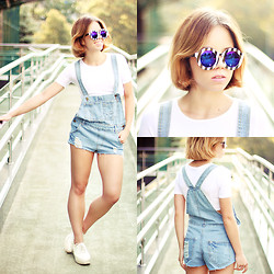 Wioletta Mary Kate - Romwe Jumpsuit, Romwe Sunglasses - Casual #3