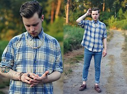 Joe Weightman - Cross My Palm Shirt, Sparks Jeans, Dr. Martens Loafers - The Shirt Has Departed From This World