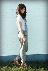 The Rambler - Target Tee, Asos Dungarees, Shoe Dazzle Wedges - A Bushel and A Peck