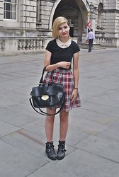 Cara E - Beyond Retro Tartan Skirt - TARTAN SKIRT
