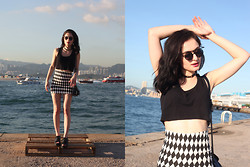 Laura Borges Ribeiro - No Label Skirt, New Look Crop Top, Wego Shoes - On edge