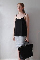 Eleanor J - Topshop Cami, Topshop Earrings, Topshop Skirt, Zara Bag - Same Love.