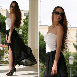 Talía Cardeña - Stradivarius Skirt, Blanco Top, Bershka Heels, Primark Necklace - LONG SKIRT