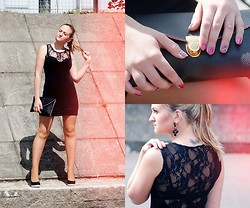 Angelika Martko - Sheinside Dress, Maxnina Earrings, H&M Bag - Little black dress