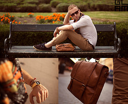 Luke Witek - Zara Camel Chino Pants, Casio Gold Watch, Zara Camel Bag - The one that got away.