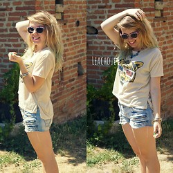 LeaChoue YouTube - Ebay Graou Top, Jeans Short, Freyrs Sun - Miaow