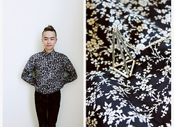 Kenny Nguyễn - Urban Outfitters Geometrical Necklace, Zara Voile Shirt, Asos Black Skinny Jeans - Saigon 2013 - Voile Flowers