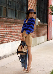 Kate Schneider - Forever 21 Hat, Vintage Camel Mini, Michael Rome Bag, Forever 21 Ankle Strap Pumps, H&M Jean Jacket - Hello