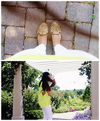 Now That's Chic - Forever 21 Top, Forever 21 Flats - Neon+White