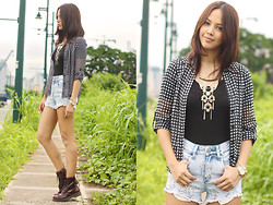 Patricia Prieto - Guess? Top, Guess? Shorts, Dr. Martens Boots - All That You Have To Do, Is Be True To You