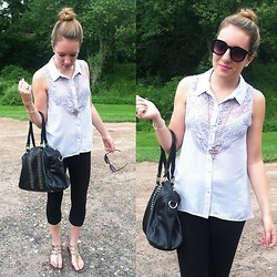 Meg Davis - H&M Top, Forever 21 Sunnies, Forever 21 Necklace, Steve Madden Sandals - If you only knew