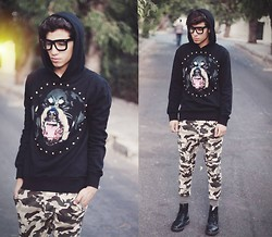 Ayoub Mani - Sheinside Sweater, Pant, Docs, Sunglasses Giantvintage - Something Wicked