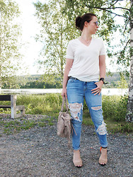 Erika Berglund - Zara Heels, Gina Tricot Jeans, Gina Tricot Top, H&M Bag - When everything´s made to be broken