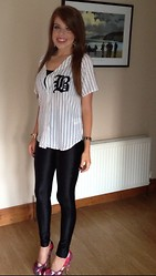 Laura O Connor - H&M Baseball Shirt, Primark Disco Pants - Baseball Vibes