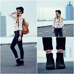 Herz über Kopf - H&M Jeans, Chic Wish Top, Vagabond Shoes, Mcm Backpack, Detomaso Watch - Lace Shirt