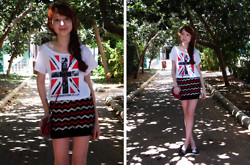 ♡ Mai Stor ♡ - Bomba Chevron Skirt, Shoes, T Shirt, Bag - Chevron