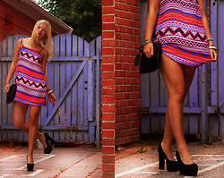 Elin Hansson - H&M Aztec Dress, H&M Bag, Heels - ♡ Don't Stop Me Now - Queen ♡