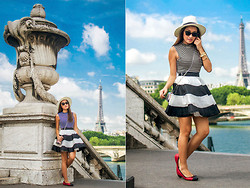 Laureen Uy - Sm Accessories Hat, Kenzo Sunnies, Vanity Street Top, Joifeth Skirt, Joifeth Bag, Heart Factory Bracelets, Crocs Flats - J'Adore Paris (BMS)