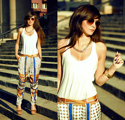 Sonja Gje - Romwe Becklace, Sheinside Pants, Lulus Shoes - IndiaDay