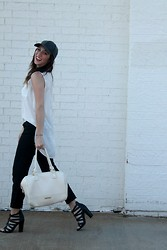 The Rambler - Target Hat, Forever 21 Top, Gap Pants, Steve Madden Bag, Shoe Dazzle Heels - Take me out to the ball game