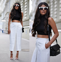 Maya Lorelei - Asos Cateye Sunnies, Asos Crop Top, Zara Pants, Zara Ankle Strap Sandals, Proenza Schouler Bag - The Spirt