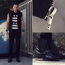 Reinaldo Irizarry - Forever 21 Shirt, Tripp Nyc X The Mortal Instruments Vest, Tripp Nyc X The Mortal Instruments Biker Jeans, Ralph Lauren Boots, H&M Cuff - SHADOW HUNTER