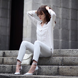 Anouska Proetta Brandon - Topshop Top, Dorothee Schumacher Pants, Office Heels - Sundays Best