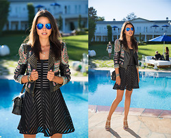 Annabelle Fleur - Bcbg Jacket, Nanette Lepore Dress, Pura Lopez Heels, Bcbg Sunnies - Basically Black